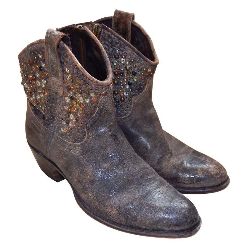 Frye Leren laarzen in bruin