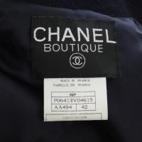 Chanel Donker blauwe kostuum