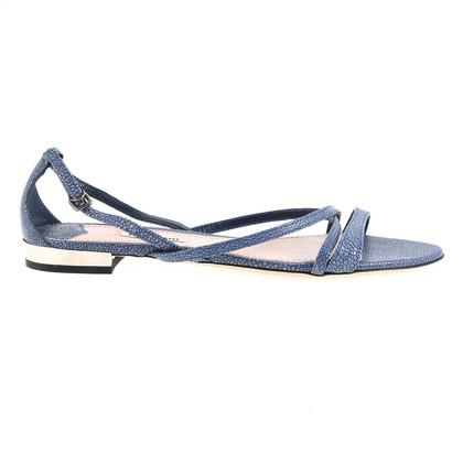 Miu Miu Blaue Sandalen