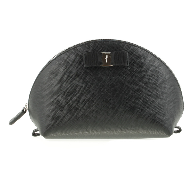 Salvatore Ferragamo Cosmetische tas in het zwart