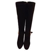 Hermès Black Suede boot