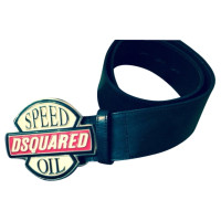 Dsquared2 Lederen riem in zwart-wit