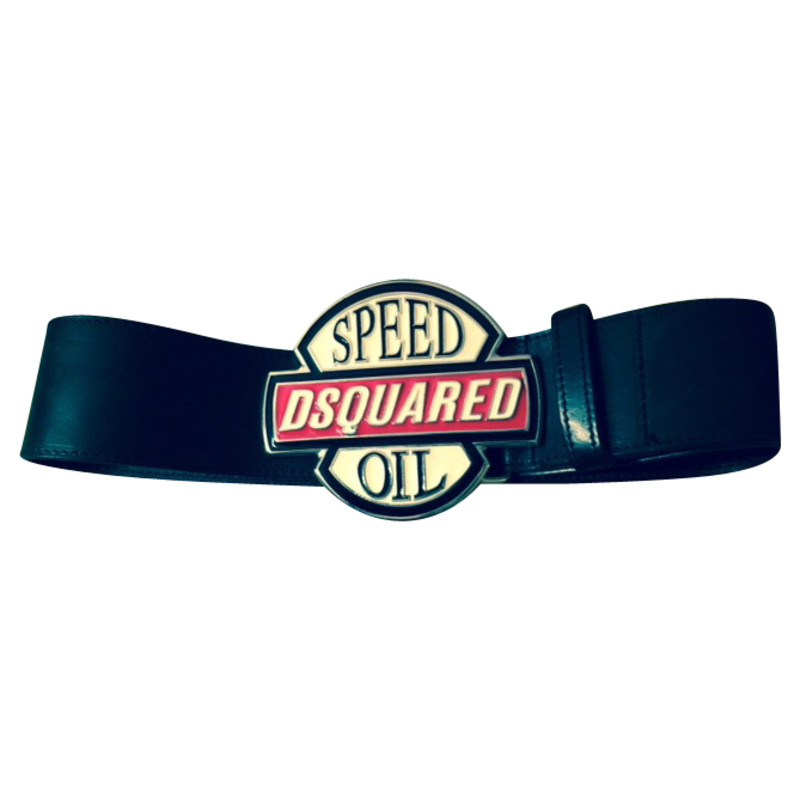 Dsquared2 Leather belt in black