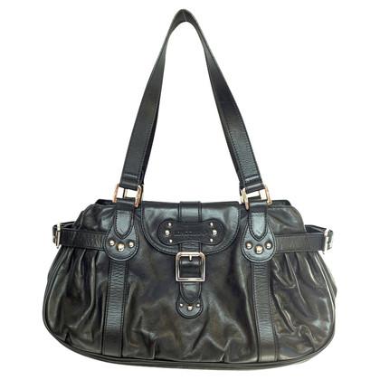 Longchamp Schwarze Ledertasche