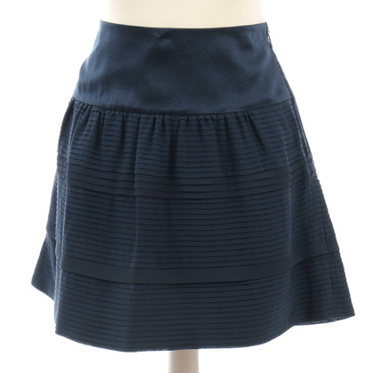 Diane von Furstenberg Blue valance pleats skirt made of silk