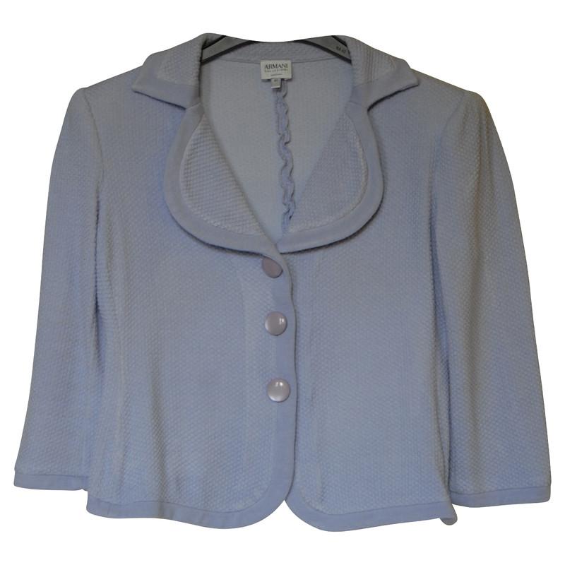 Armani Collezioni Blazer jas in heldere paars