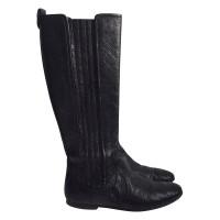 Balenciaga Schwarze Lederstiefel