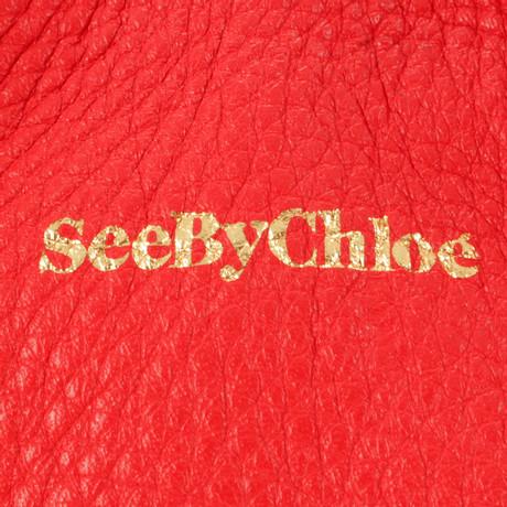 See by Chloé Rote Beuteltasche Rot 100% Original Online Billig Footlocker Günstig Kaufen Vermarktbare 84wSIj9N