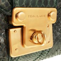 Rena Lange Sac à poignée en cuir python