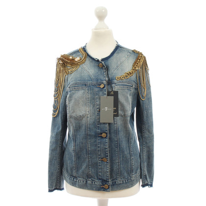 7 For All Mankind Denim jacket with application