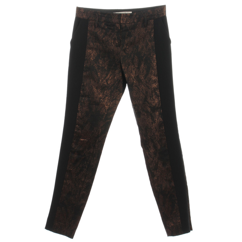 Schumacher Pants with metal threads