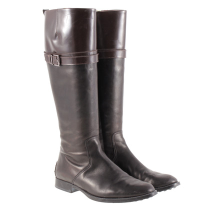 Tod's Dark brown leather boots