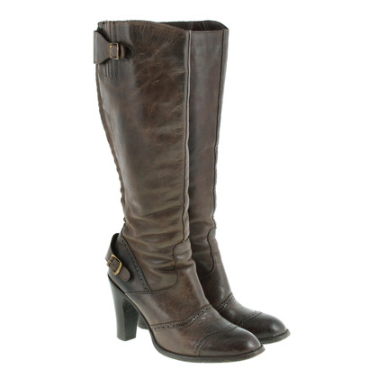 Belstaff Leather boots with hole pattern