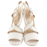 Gianni Versace Sandals in white-gold