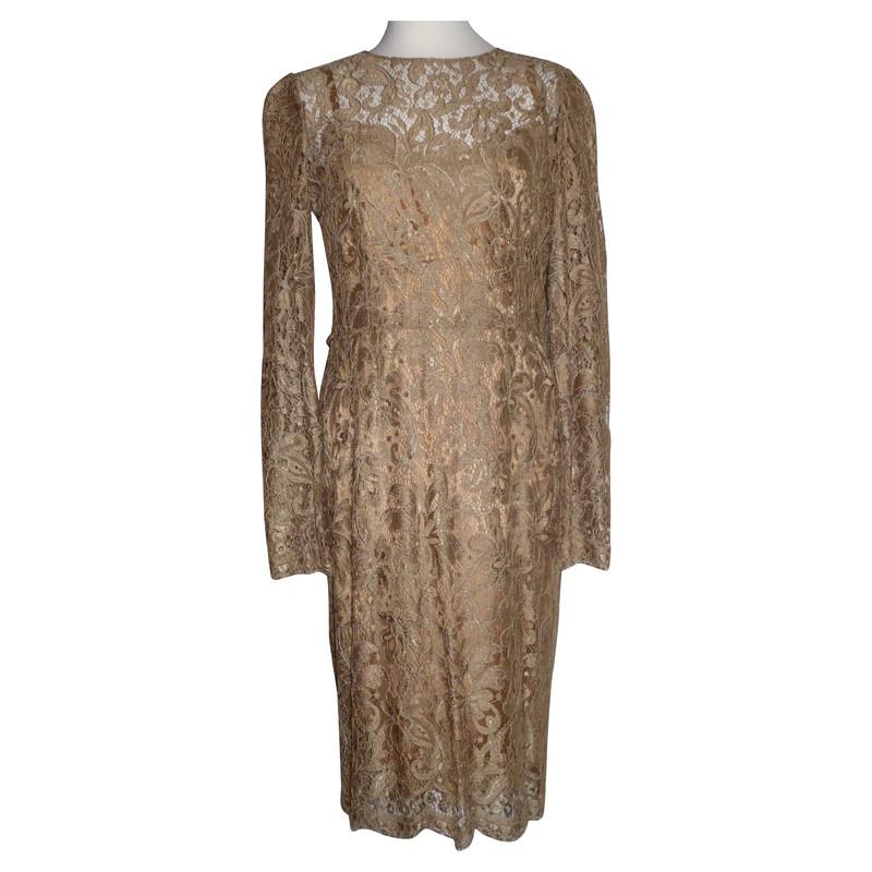 Dolce & Gabbana Lace dress in gold