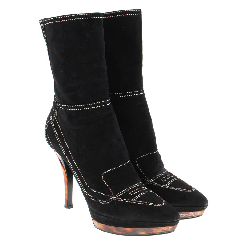 Casadei Boots with decorative stitching