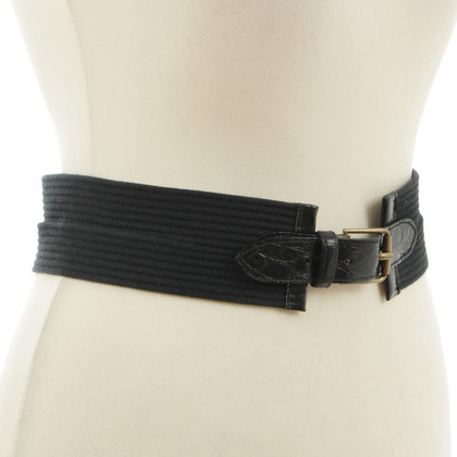 Jil Sander Waist belt with Croco black