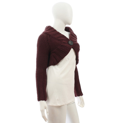 Patrizia Pepe Dark red knit top