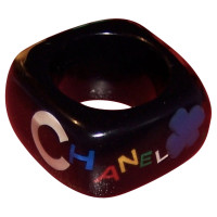 Chanel Ring with colored letters