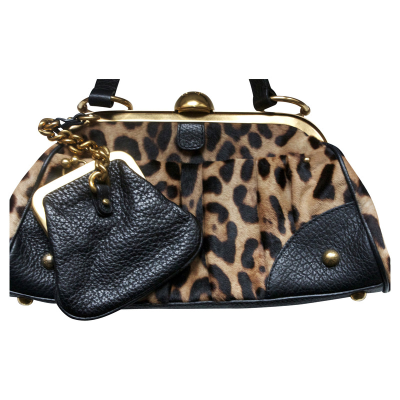 Dolce & Gabbana Bag with fur and Leo Muster