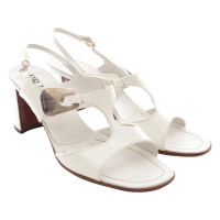 Prada White patent leather sandals