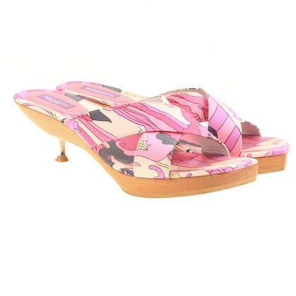 Emilio Pucci Tappeto a motivi muli in rosa