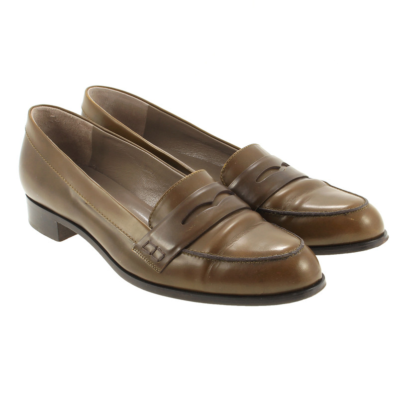 Moschino Cheap and Chic Penny loafers in olive