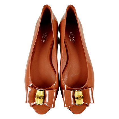Gucci Peep-toes ballerinas with bamboo detail