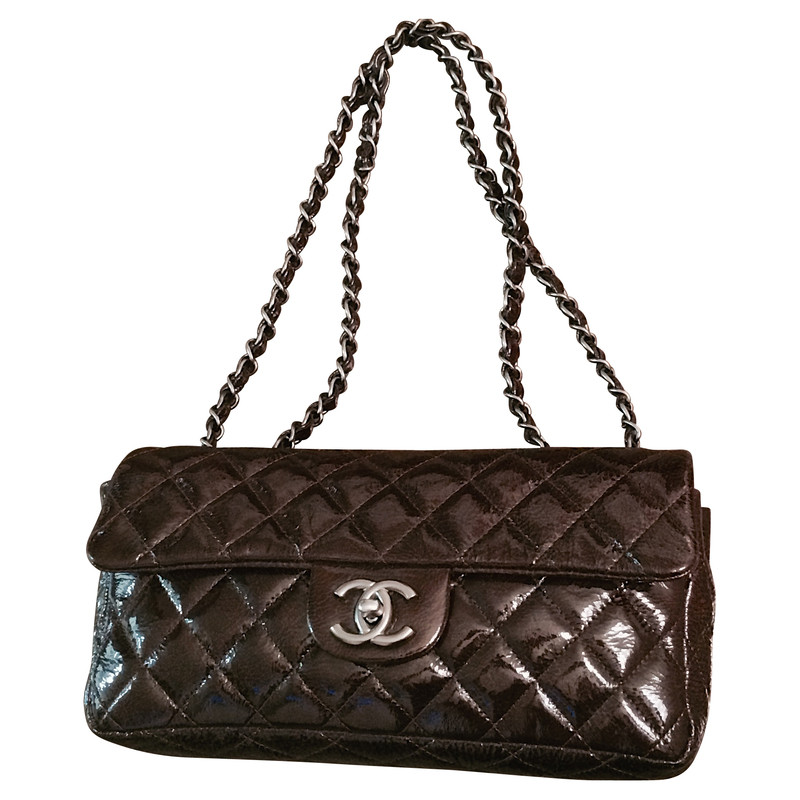"Chanel Patent leather bag in ""Mocha"""