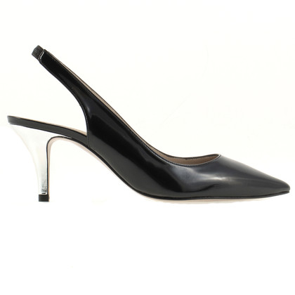 Paule Ka Black Slingbacks