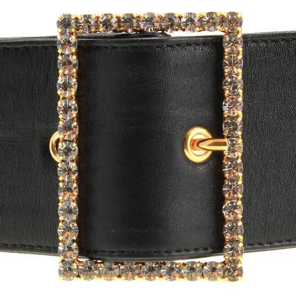 Dolce & Gabbana Leather belt with Rhinestones