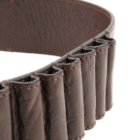 John Galliano Brown leather belt