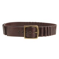 John Galliano Ceinture en cuir marron