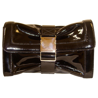 "René Lezard Clutch ""Bow"" aus Lackleder"