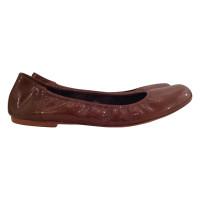 Marni Brown leather ballerinas