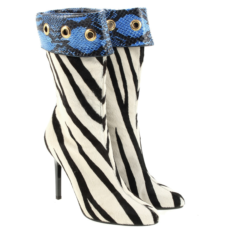 Jimmy Choo Ankle boots in Zebra look