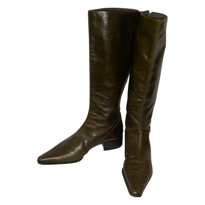 Alberta Ferretti Boots in dark green