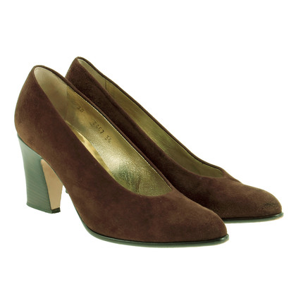 Walter Steiger Brown Wildleder-Pumps