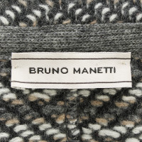 Bruno Manetti Strickjacke mit Lederpatches