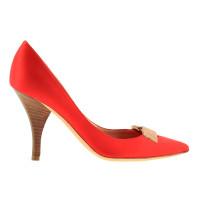 Giuseppe Zanotti Red satin pumps