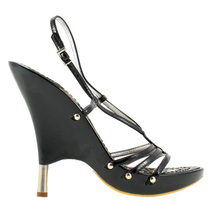 Roberto Cavalli Black high heel patent leather