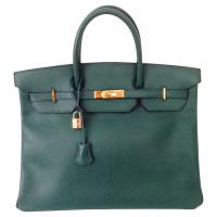 "Hermès Birkin bag 40 Ardennes leather in ""Malachite"""