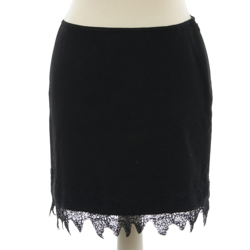 Versace Wool skirt with lace