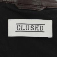 Closed Braune Bikerjacke