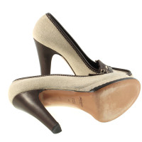 Yves Saint Laurent Plateau-Pumps canvas
