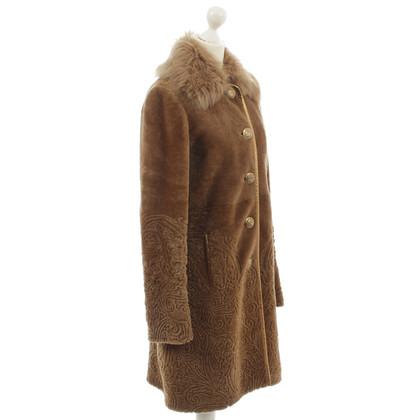 Etro Lamsdarm jas met versieringen