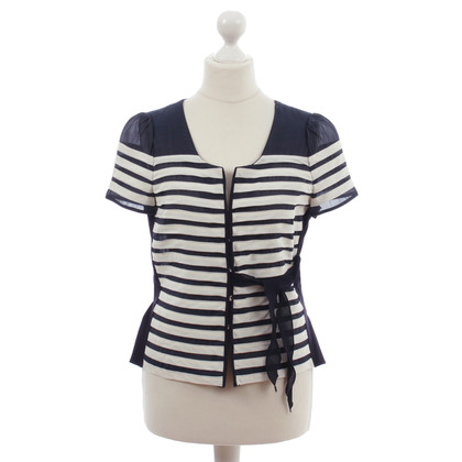Marc by Marc Jacobs Dark blue beige striped silk Cardigan