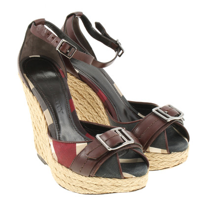 Burberry Wedges mit Check Muster