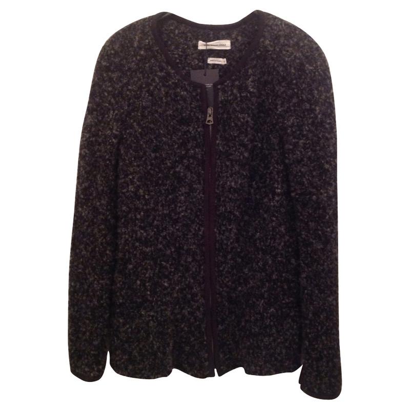 Isabel Marant Gray Bouclé jacket optic