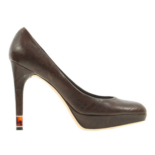 77f79e9ddc3c9 Christian Dior Braune Pumps - Second Hand Christian Dior Braune ...